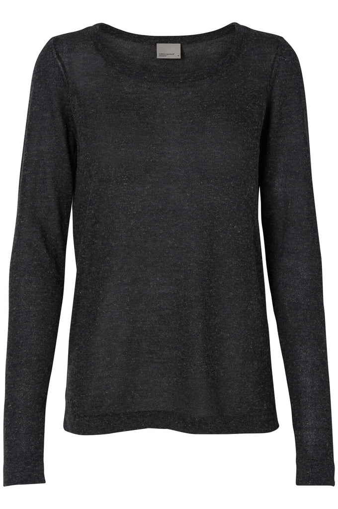 VMALTA SWEATER DARK GREY MELANGE