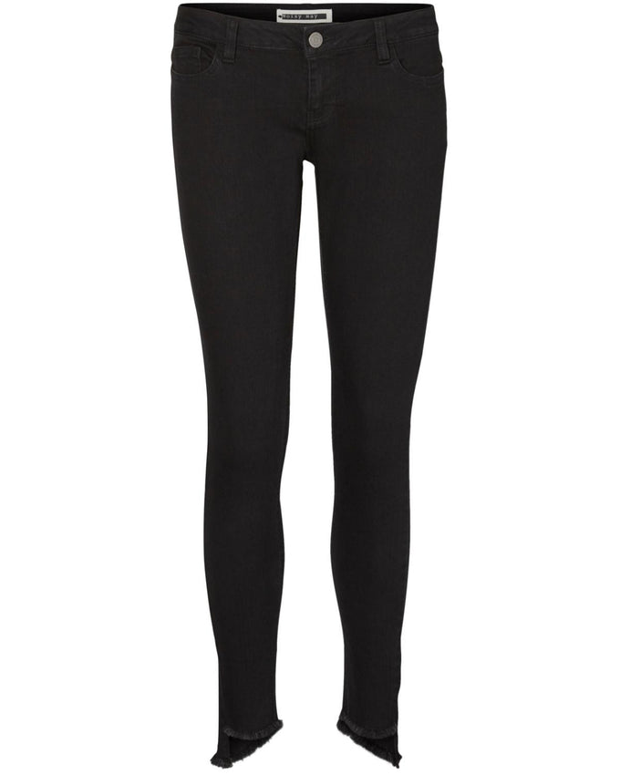 NMEVE UNEVEN ANKLE JEANS Black