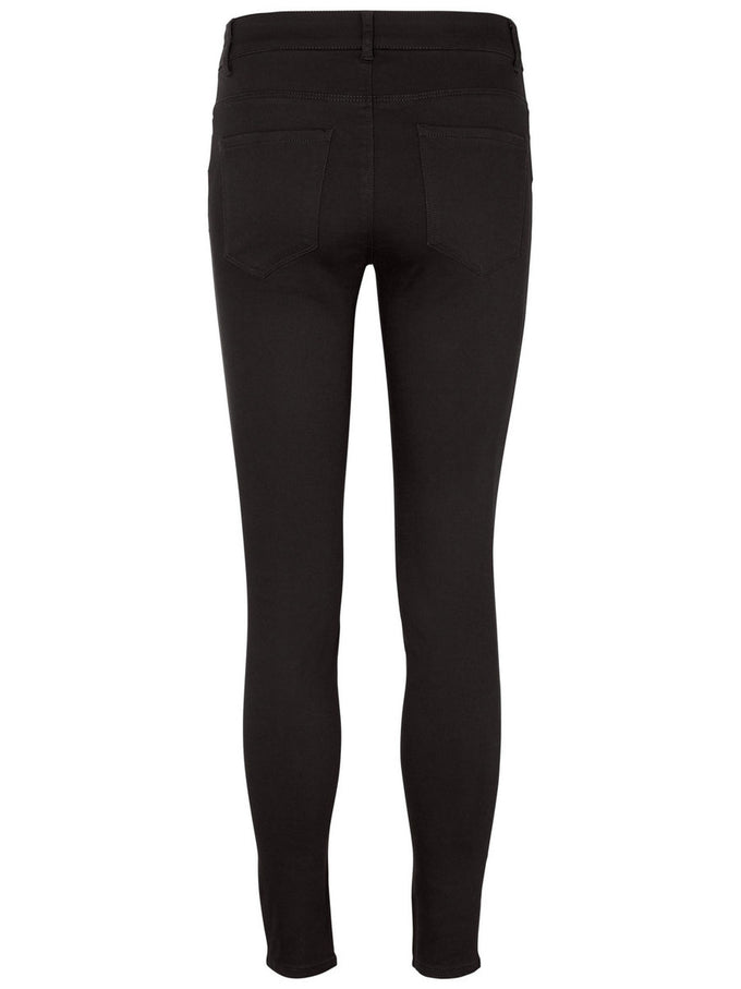 SLIM FIT ANKLE PANTS BLACK