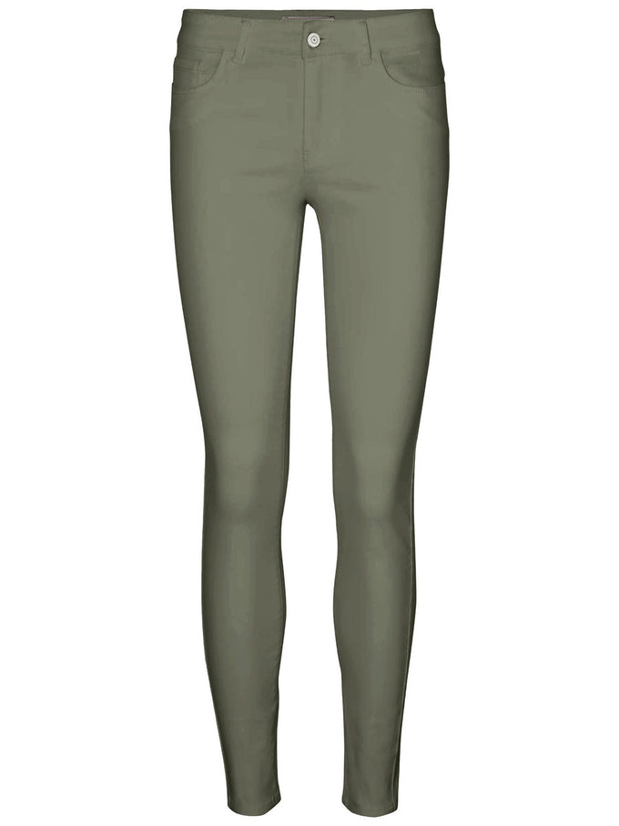 SLIM FIT ANKLE PANTS IVY GREEN