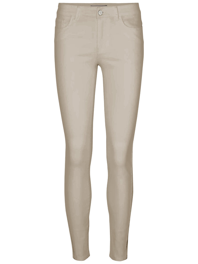 SLIM FIT ANKLE PANTS SILVER MINK