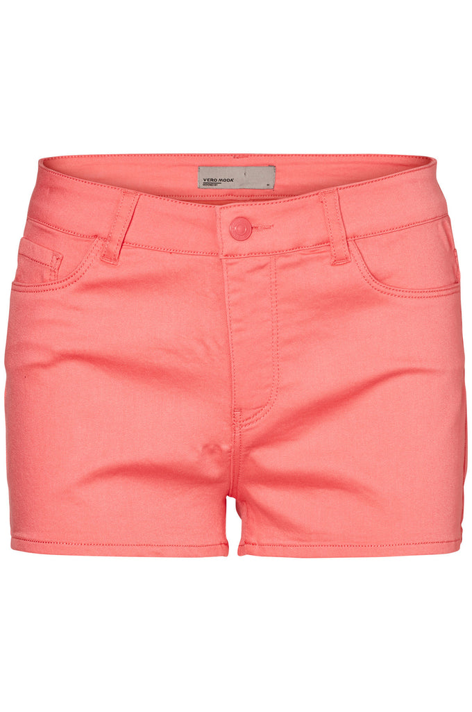 SHORT EXTENSIBLE COLORÉ CORAIL