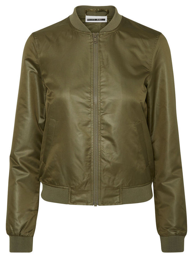 NMSHINY BOMBER JACKET Ivy Green