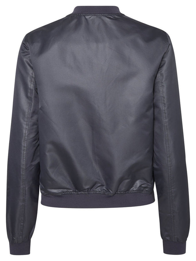NMSHINY BOMBER JACKET Dark Blue