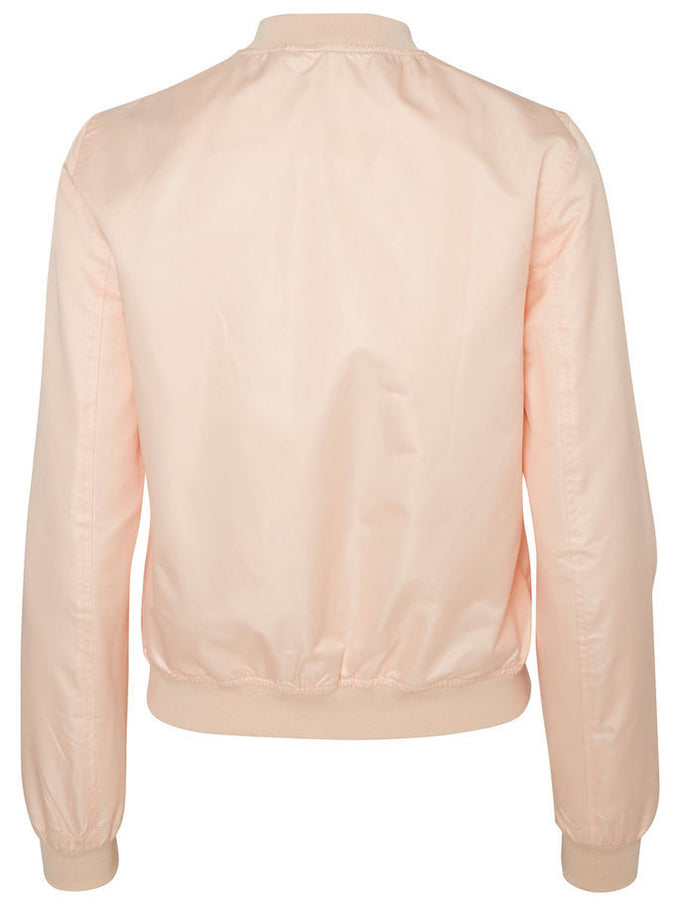 NMSHINY BOMBER JACKET Dusty Rose