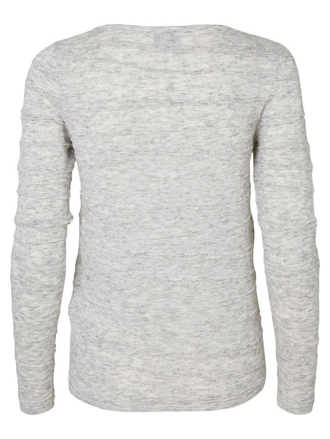 VMMONTANA SWEATER LIGHT GREY MELANGE