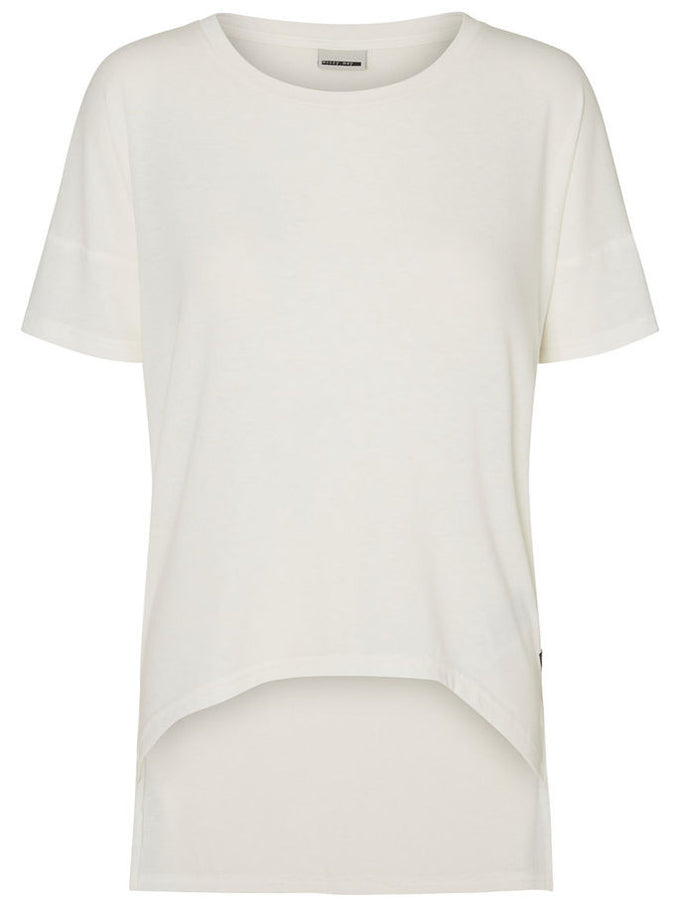NMGABRIELA HIGH-LOW T-SHIRT SNOW WHITE