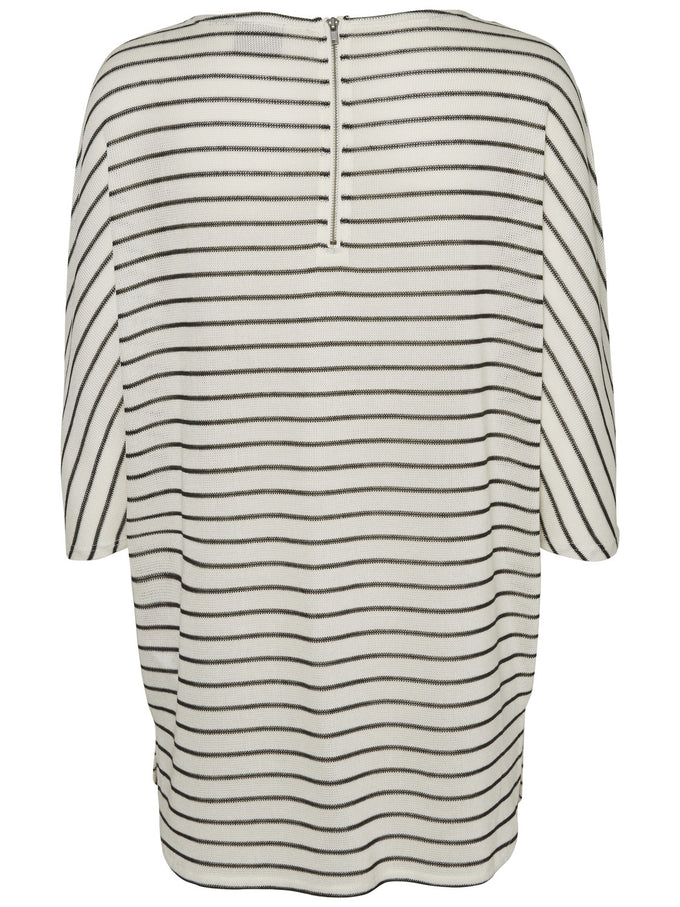 VMNANA STRIPED T-SHIRT SNOW WHITE