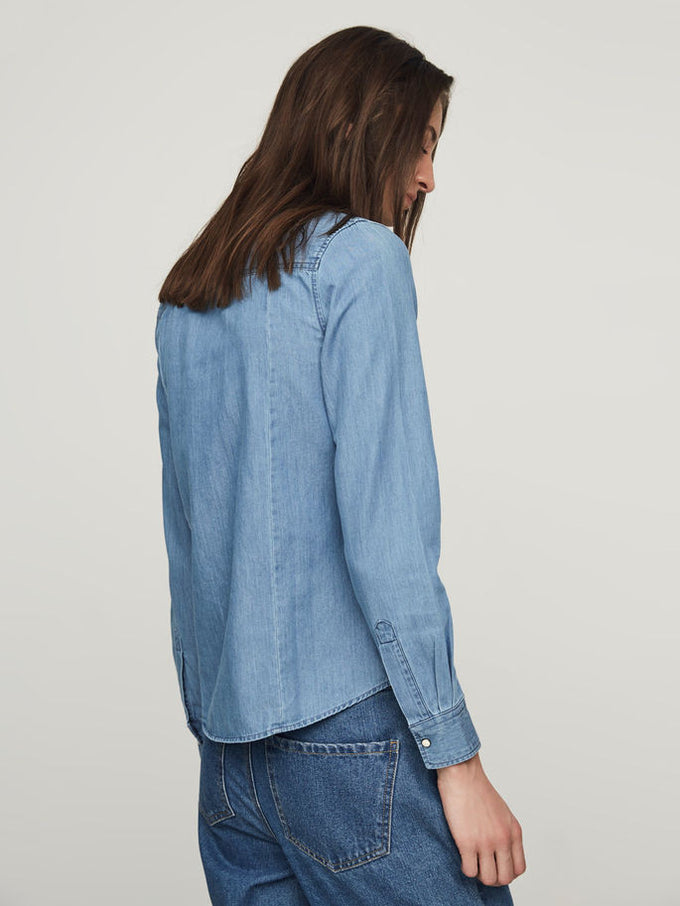 VMDAISY DENIM SHIRT LIGHT BLUE DENIM