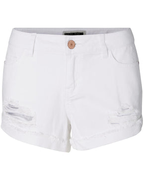 NMFRAN WHITE DENIM SHORTS