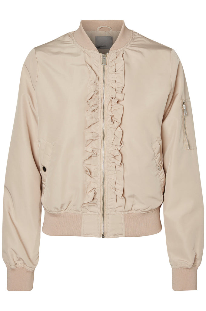 VMDICTE RUFFLE BOMBER JACKET MOONLIGHT
