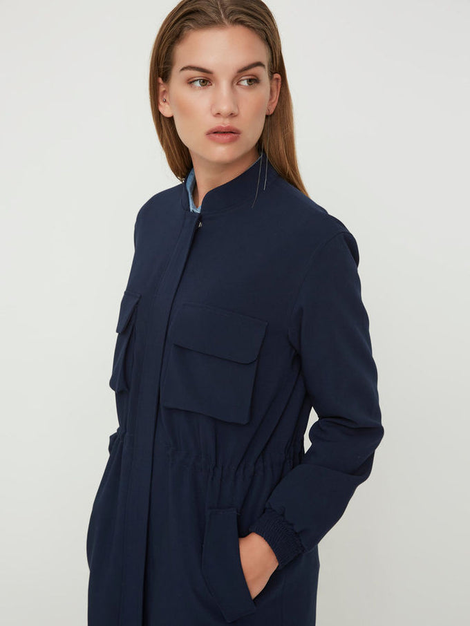 NMUSO LONG JACKET Dark Blue