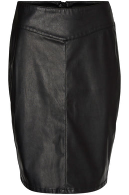 F-VMSAM FAUX-LEATHER SKIRT