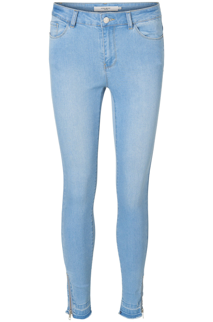 VMSEVEN SLIM ANKLE JEANS LIGHT BLUE DENIM