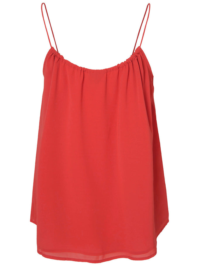 F-CAMISOLE VMNYNNE ROUGE COQUELICOT