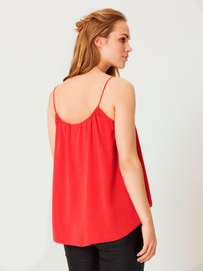 F-VMNYNNE CAMI POPPY RED