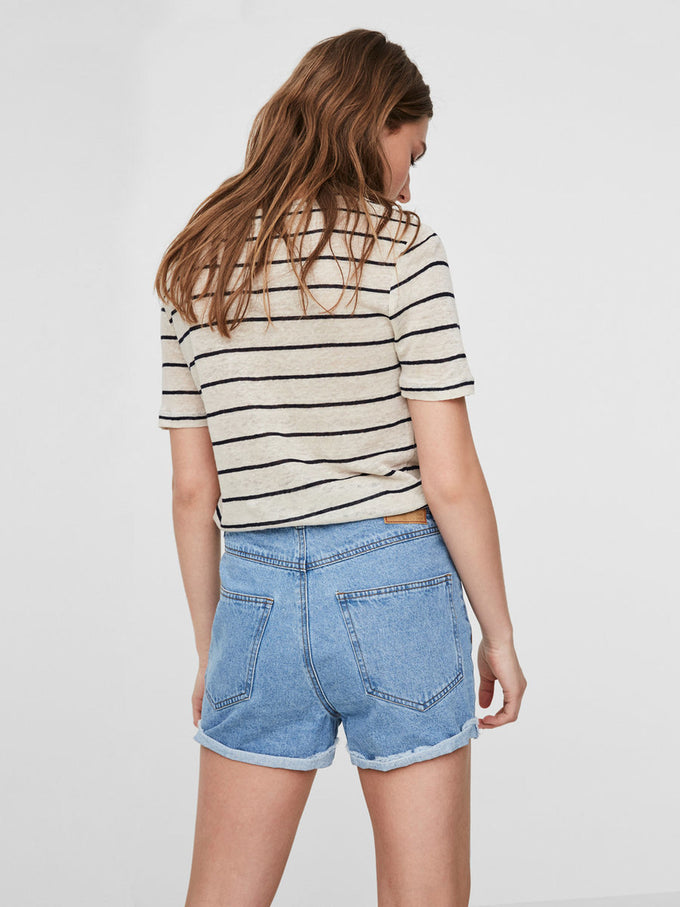SHORT EN DENIM VMBE BLEU DENIM