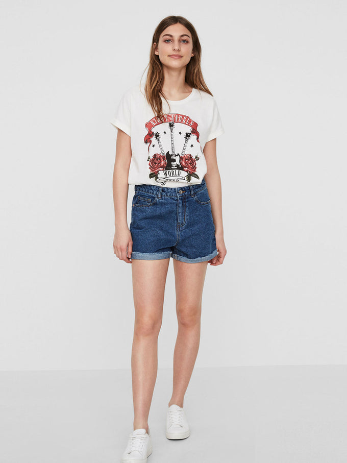 VMBE DENIM SHORTS MEDIUM BLUE DENIM