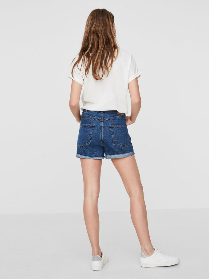 SHORT EN DENIM VMBE BLEU DENIM MOYEN
