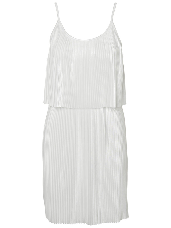 SHORT PLEATED DRESS SNOW WHITE