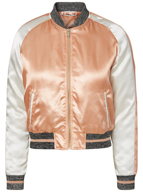 SILKY EMBROIDED BOMBER JACKET