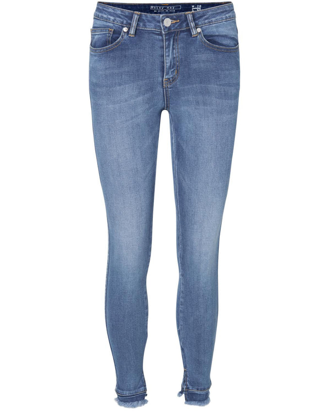 NMLUCY NW SLIT ANKLE 491 JEANS Medium Blue Denim