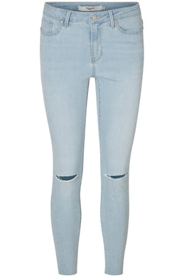 VMSEVEN SLIM KNEE CUT ANKLE JEANS
