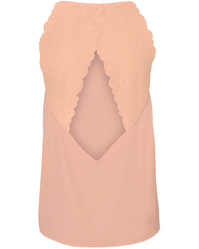 LACE DETAIL CAMI DUSTY CORAL