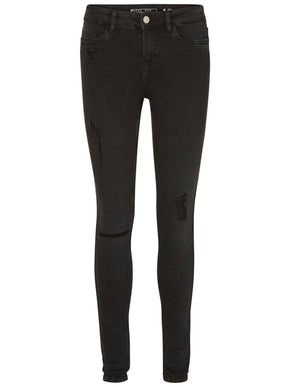 SKINNY FIT DISTRESSED BLACK JEANS 876