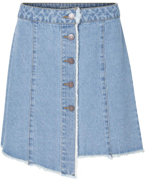 ASYMETRIC SHORT DENIM SKIRT