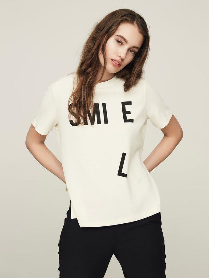 T-SHIRT NMMOODY BLANCHE NEIGE