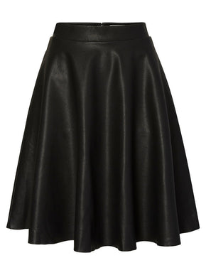 NMANNA FAUX-LEATHER SKIRT