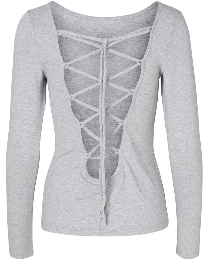 NMMANCE TOP LIGHT GREY MELANGE