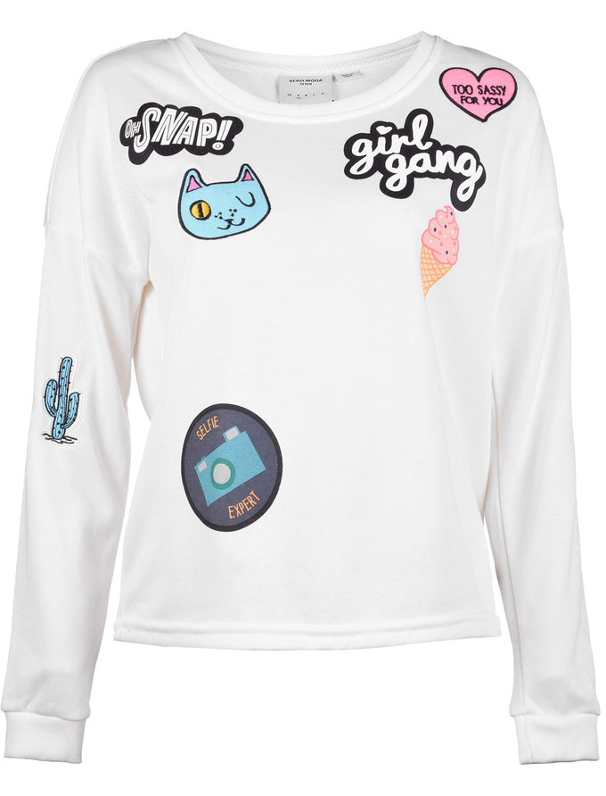 VMDIDDE PATCH SWEATSHIRT SNOW WHITE