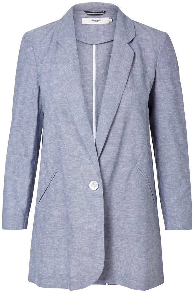 LINEN-BLEND CASUAL BLAZER PLEIN AIR