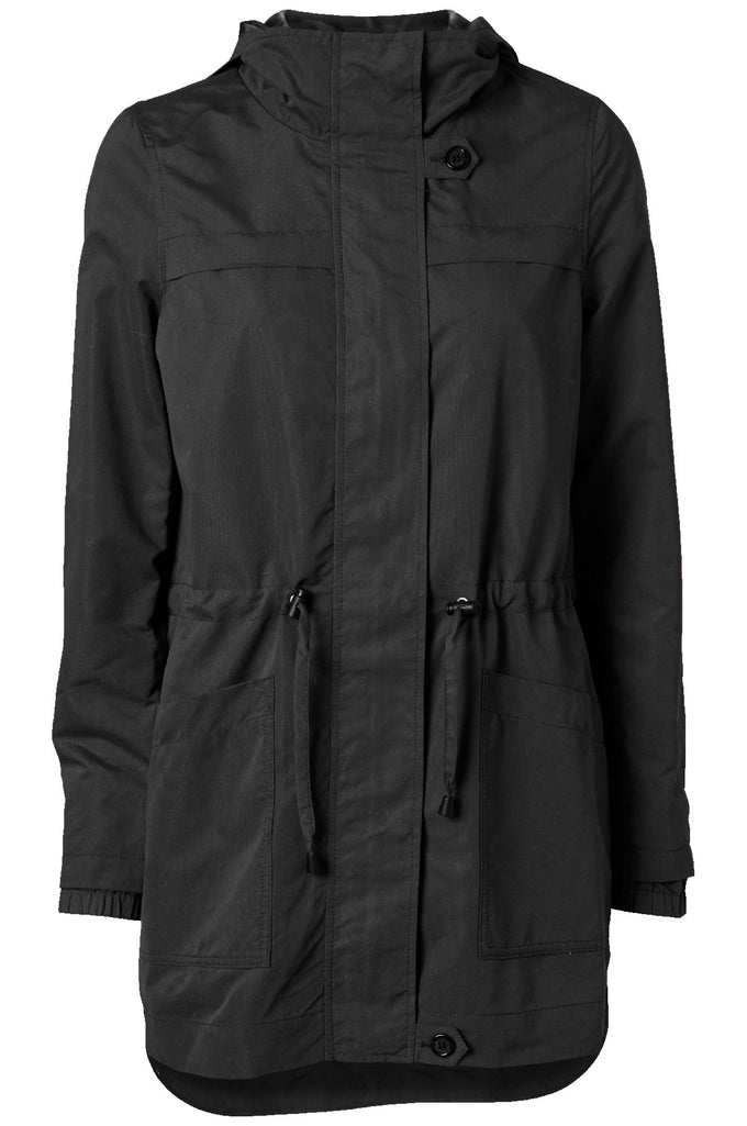 LIGHT HIGH-LOW PARKA BLACK