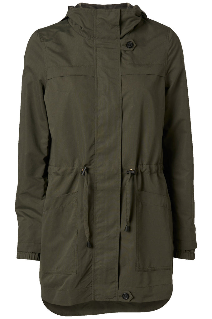 LIGHT HIGH-LOW PARKA IVY GREEN