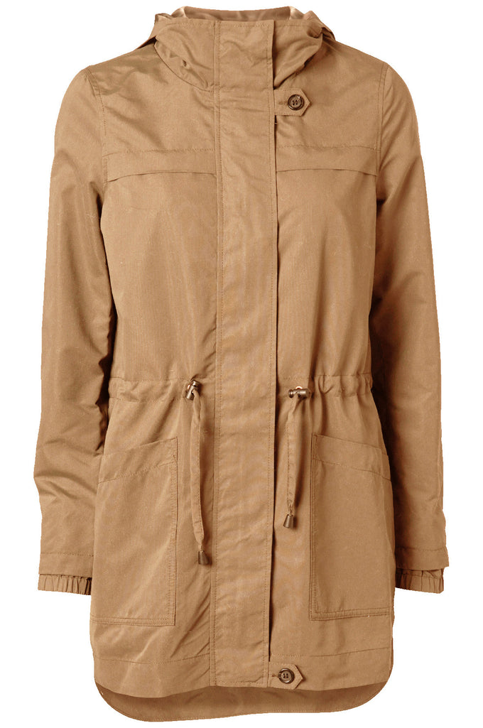LIGHT HIGH-LOW PARKA TIGERS EYE