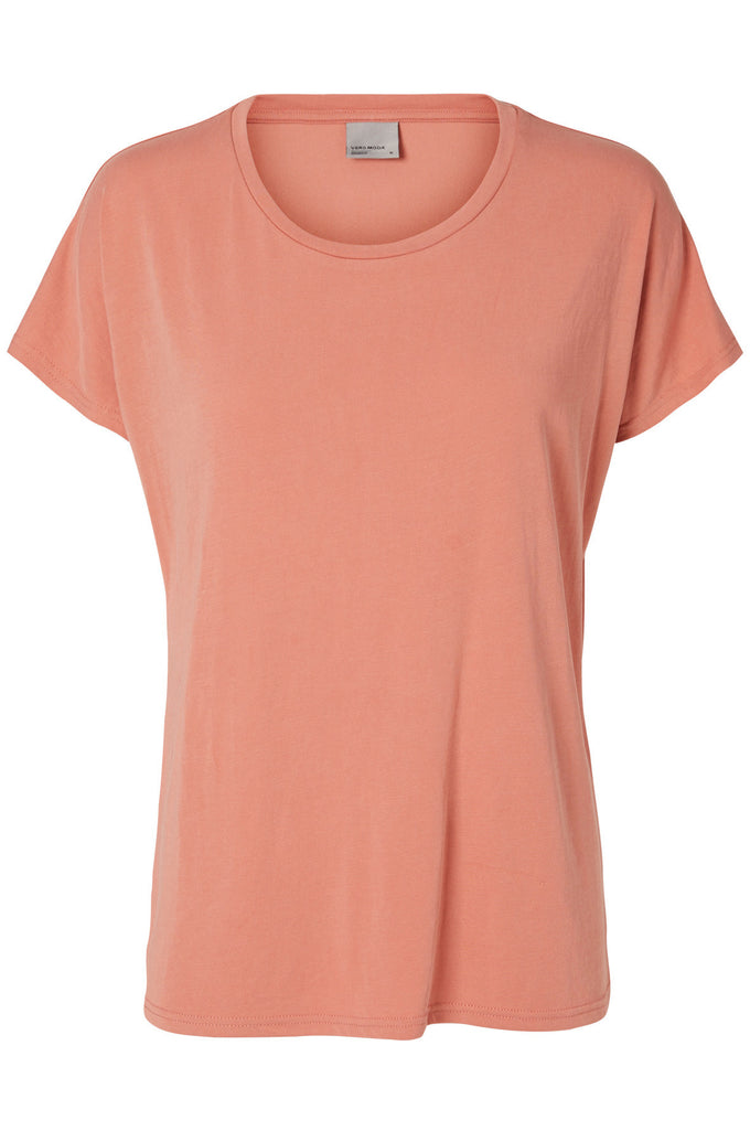 T-SHIRT AMPLE VMMETTI VIEUX ROSE