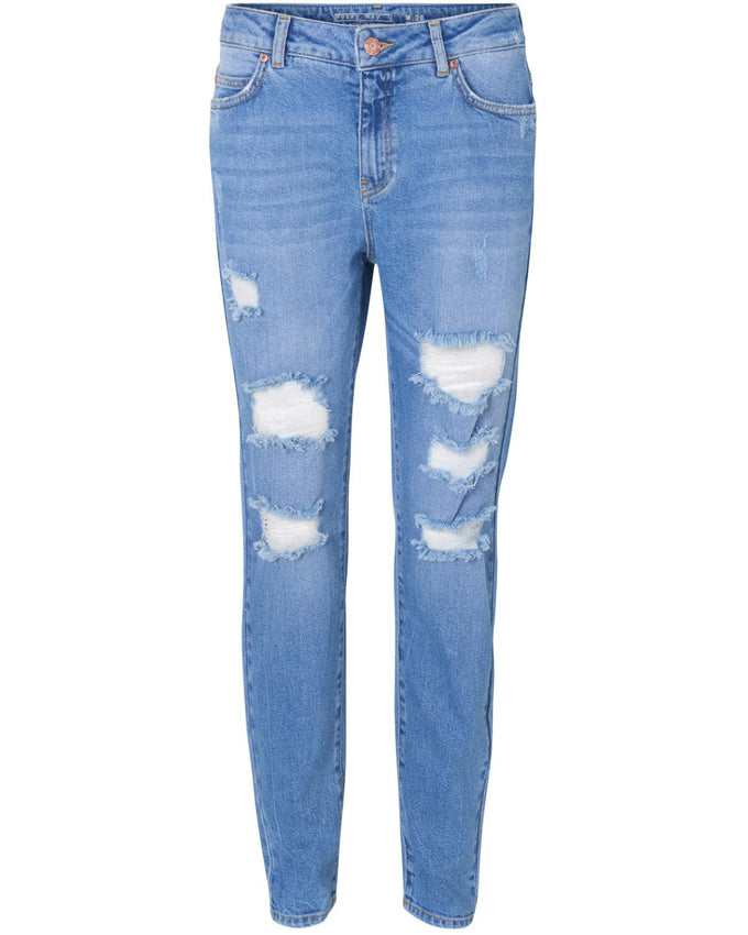 NMKIM NW DESTROY 610 JEANS Medium Blue Denim