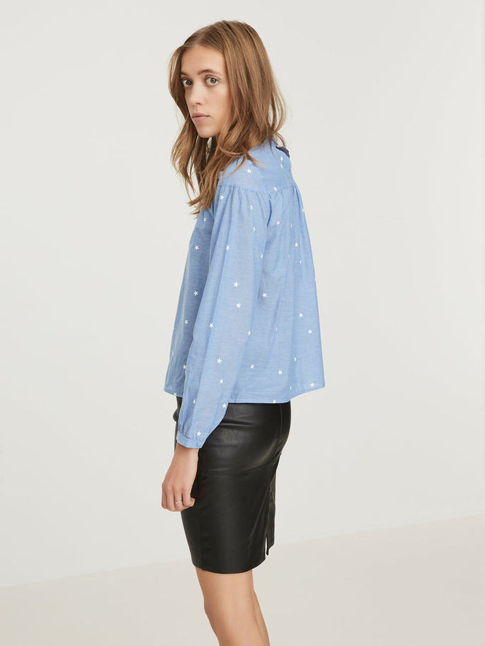 VMTAYLOR BLOUSE Light Blue Denim