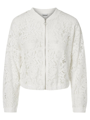 SHORT LACE BOMBER JACKET