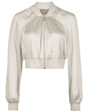 SHORT SILKY BOMBER JACKET