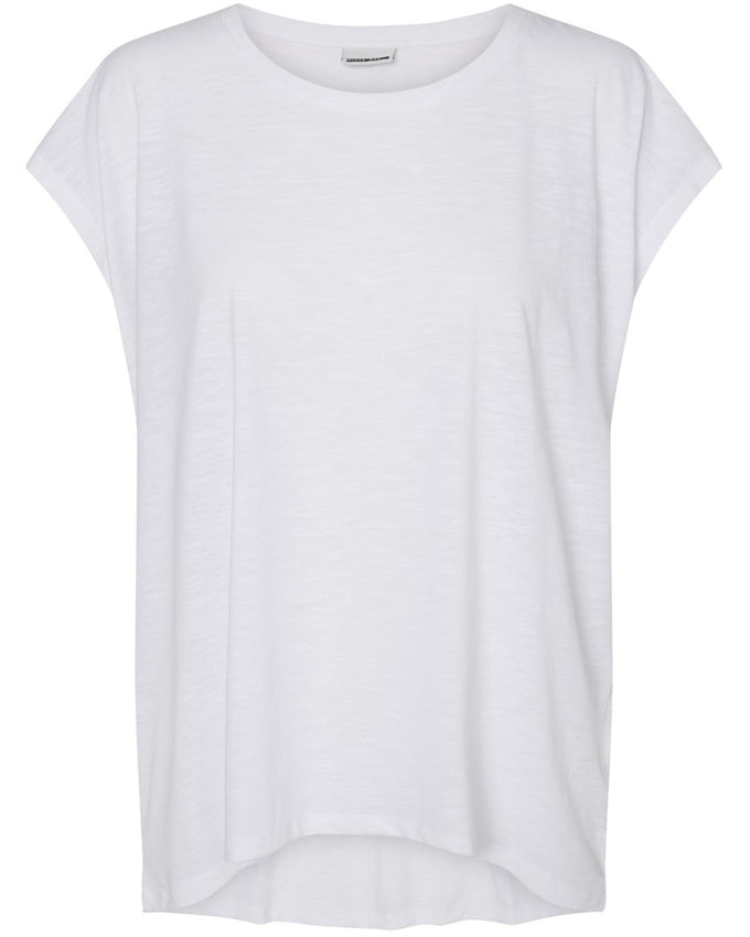 NMMATHILDE LOOSE T-SHIRT BRIGHT WHITE