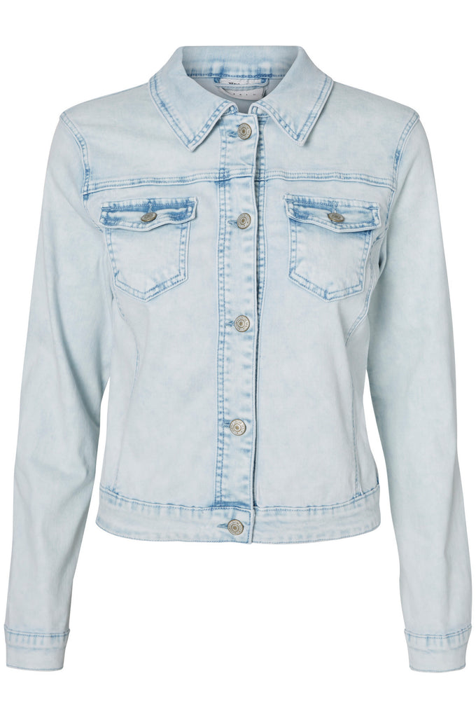 VESTE EN DENIM BLEU PÂLE BLEU DENIM PALE