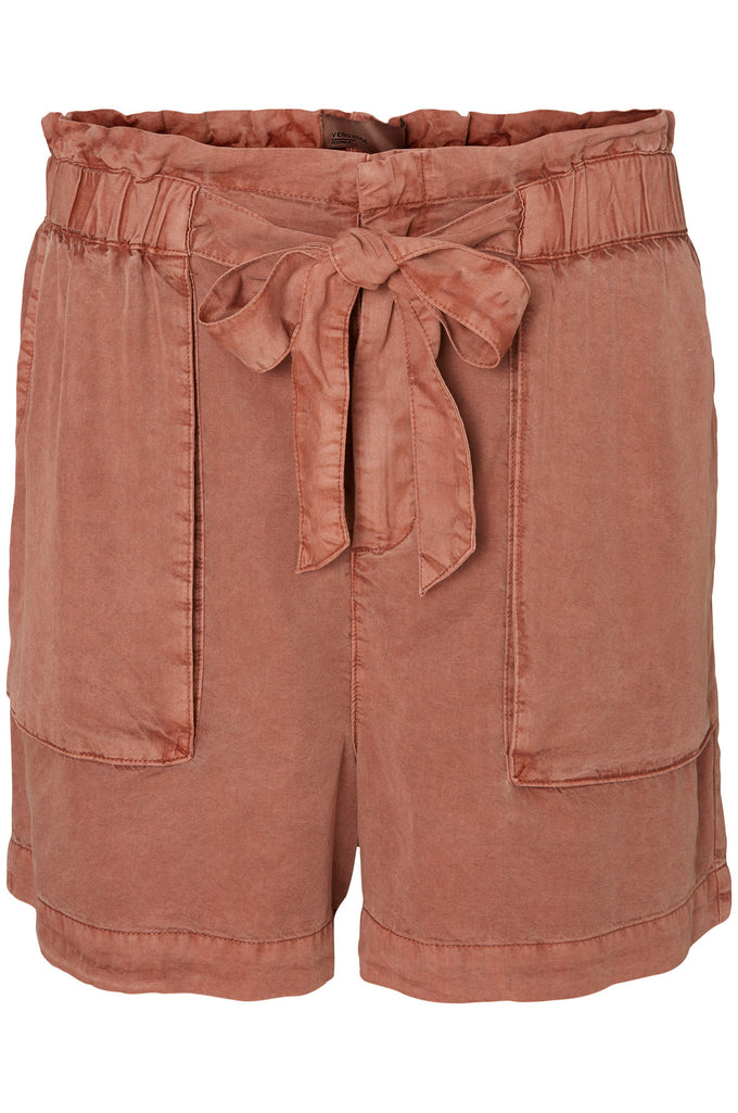 HIGHWAIST LYOCELL SHORTS CEDAR WOOD