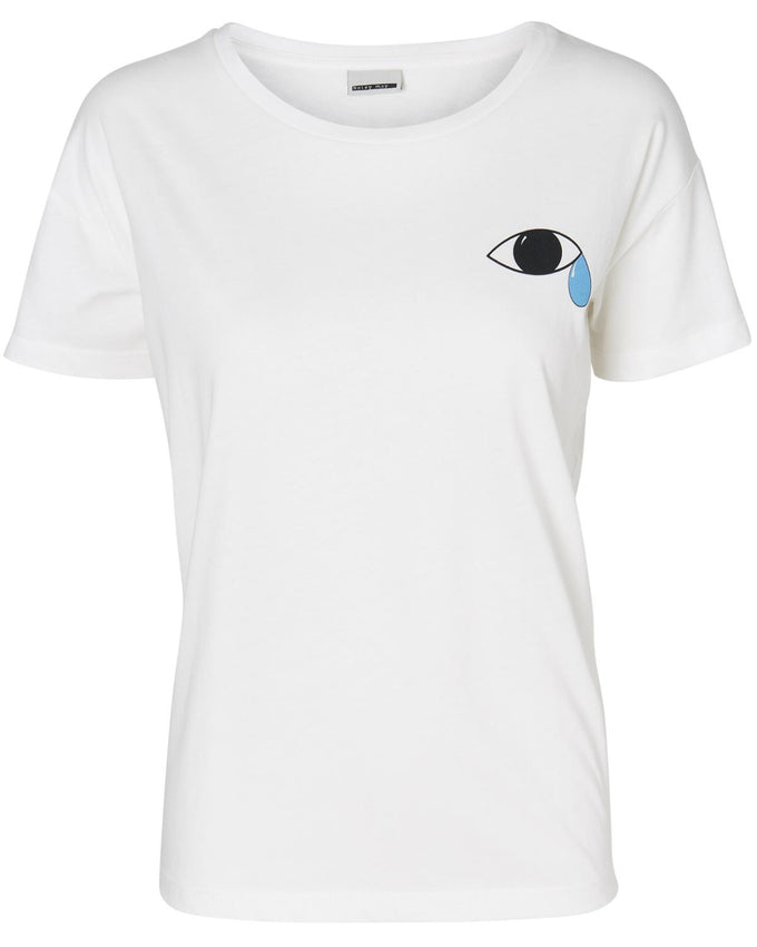 NMPATTY T-SHIRT SNOW WHITE/EYE