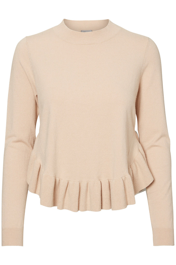 BLOUSE À VOLANTS VMANNIKA AVOINE