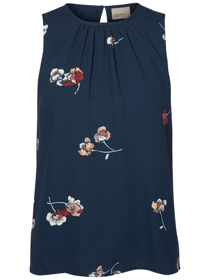 SLEEVELESS FLOWER PRINT BLOUSE TOTAL ECLIPSE