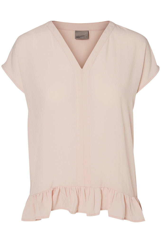 RUFFLED LOOSE BLOUSE PEACH WHIP